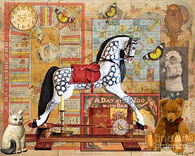 Rocking Digital Art - Childhood Treasures by Judy Wood