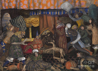 Moscow Painting - Childrens Masquerade by Celestial Images