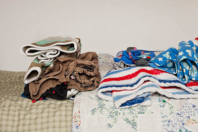 Bed Quilts Photograph - Child's Clothes by Tom Gowanlock