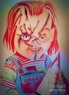 Serial Killer Drawing - Child's Play 1 by Denisse Del Mar Guevara