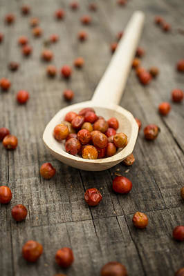 Peppercorns Photograph - Chile Chiltepin by Aged Pixel