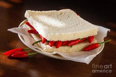 Chili Pepper Sandwich Print by Carlos Caetano