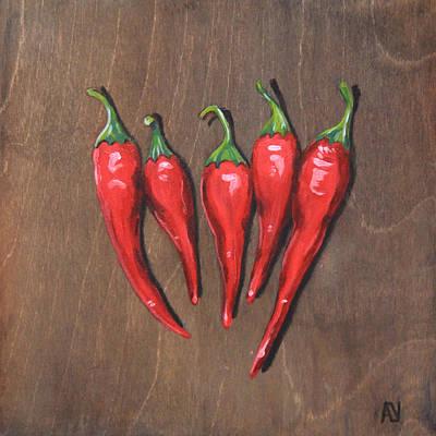Chili Peppers Original by Aubrey Verzyden