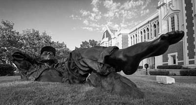 Oklahoma University Photograph - Chillin On The North Oval by Nathan Hillis