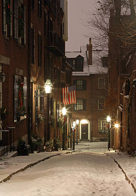 Chilly Boston Print by Juergen Roth