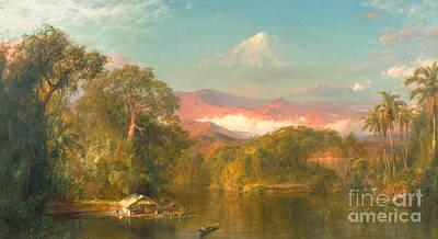 Chimborazo Print by Frederic Edwin Church