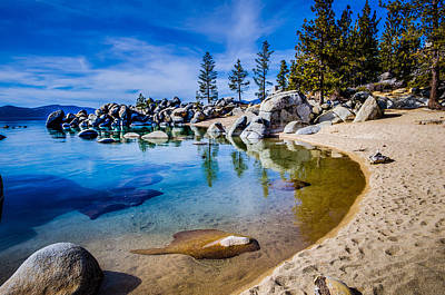 Chimney Photograph - Chimney Beach Lake Tahoe Shoreline by Scott McGuire
