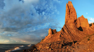 Chimney Bluffs 2 Print by Mark Papke