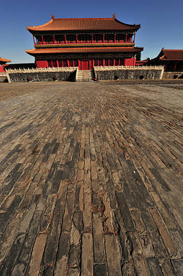 House Of Worship Photograph - China, Beijing, Forbidden City by Anthony Asael