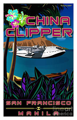 China Clipper Print by Christopher Williams