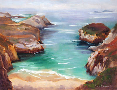 Iconic Painting - China Cove Colors by Karin  Leonard