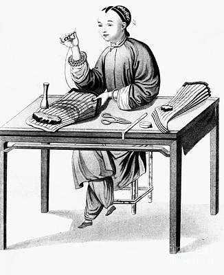 China: Stocking-maker Print by Granger