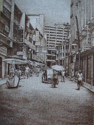 China Town Print by Hezekiah Lopez