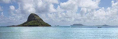 Water Photograph - Chinamans Hat Panorama - Oahu Hawaii by Brian Harig