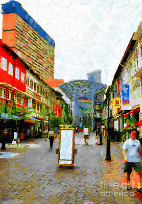 Local Attraction Painting - Chinatown Heritage Centre Painting by George Fedin and Magomed Magomedagaev
