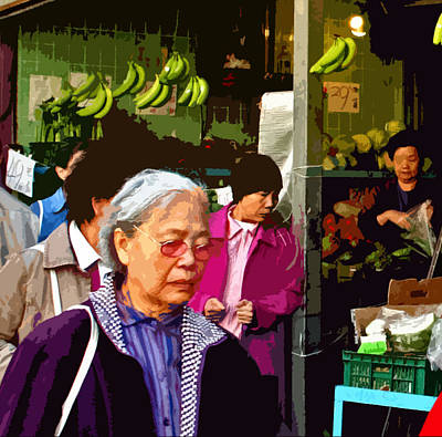 Chinatown Marketplace Print by Joseph Coulombe