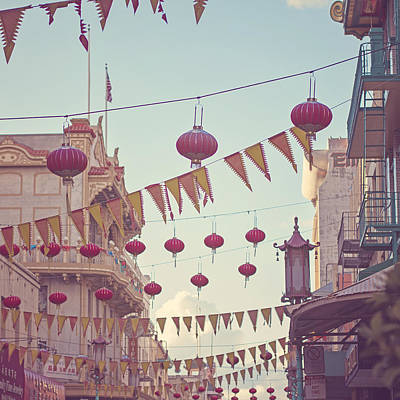 Bunting Digital Art - Chinatown San Francisco by Melanie Alexandra Price
