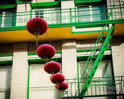 Chinatown San Fran Lanterns Print by Sonja Quintero