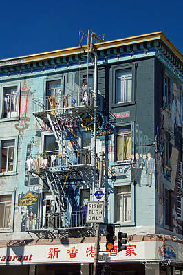 Chinatown San Francisco Scenic I Print by Suzanne Gaff