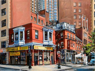 Massachusetts Painting - Chinatown View by Deb Putnam