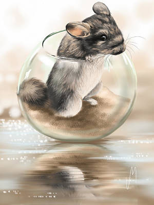 Mouse Painting - Chinchilla by Veronica Minozzi