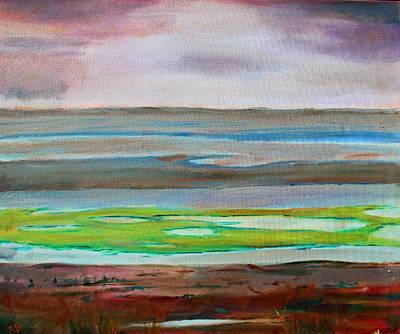 Tidal Basin Painting - Chincoteague by Rosemarie Hakim