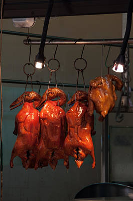 Chinese Bbq Duck And Chicken Print by Frank Gaertner