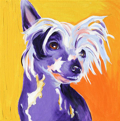 Chinese Crested - Spike Print by Alicia VanNoy Call