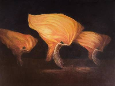 Troupe Photograph - Chinese Dancers, 2010 Acrylic On Canvas by Lincoln Seligman