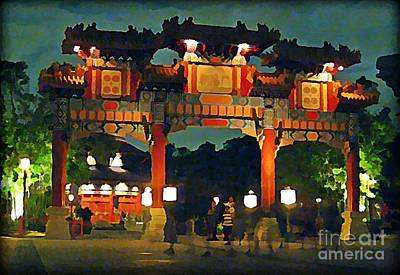 Chinese Entrance Arch Print by John Malone