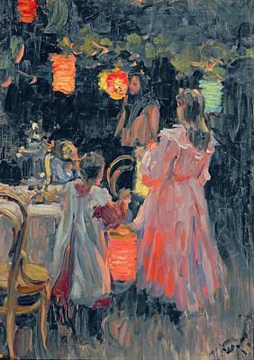 Evening Dress Painting - Chinese Lanterns by Ivan Semyonovich Kulikov