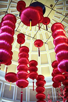 Chinese Lanterns Print by John Rizzuto