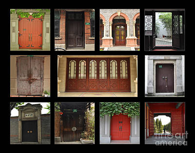Screen Doors Photograph - Chinese Portals by Josephine Cohn
