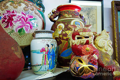 Chinese Pottery And Vases Print by Amy Cicconi