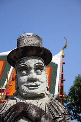 Chinese Statue Guards - Wat Pho - Bangkok Thailand - 01134 Print by DC Photographer