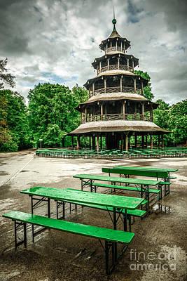 Chinesischer Turm I Print by Hannes Cmarits