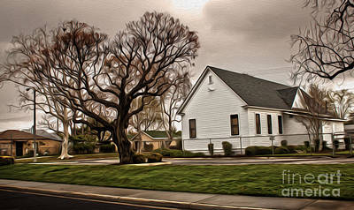 Chino Old School House - 04 Print by Gregory Dyer