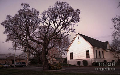 Chino Old School House At Dusk- 03 Print by Gregory Dyer