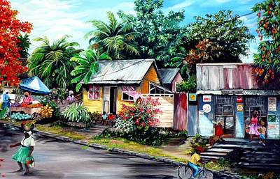Trinidad Painting - Chins Parlour     by Karin  Dawn Kelshall- Best