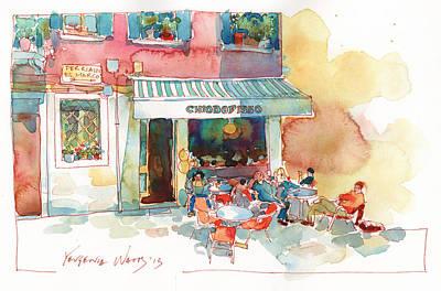 Chiodofisso Or Lunch In Venice Original by Yevgenia Watts