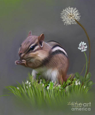 Squirrel Digital Art - Chipmunk by Lena Auxier