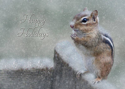 Snowy Digital Art - Chippy Christmas Card by Lori Deiter
