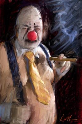 Creepy Digital Art - Chippy The Clown by H James Hoff