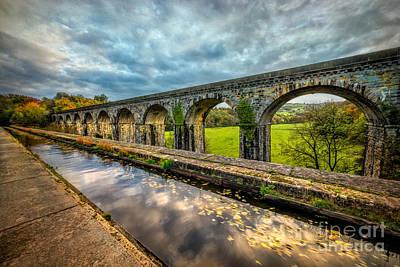 Walkway Digital Art - Chirk Aqueduct 1801 by Adrian Evans