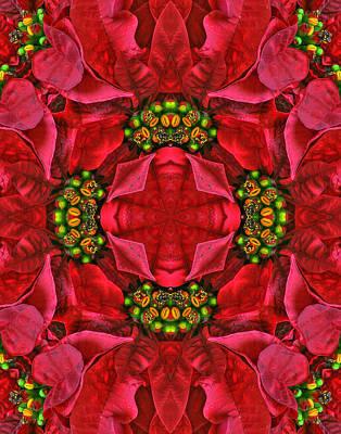 Christmas Kaleidoscope II Print by Dawn Currie
