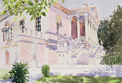 Garden Scene Drawing - Chiswick House by Lucy Willis