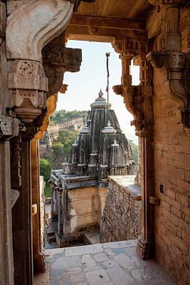 Portal Photograph - Chittaurgarh Citadel by Tom Norring