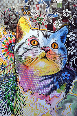 Chloe ... Abstract Cat Art Original by Amy Giacomelli