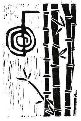 Cho Ku Rei And Bamboo Print by Lynn-Marie Gildersleeve