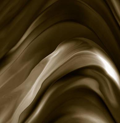 Luminescent Digital Art - Chocolat by Bonnie Bruno